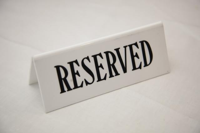 予約席の写真