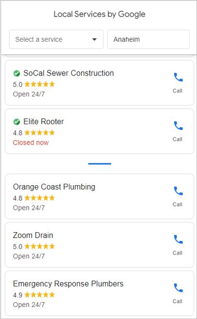 Google保証マークの検索結果での見え方